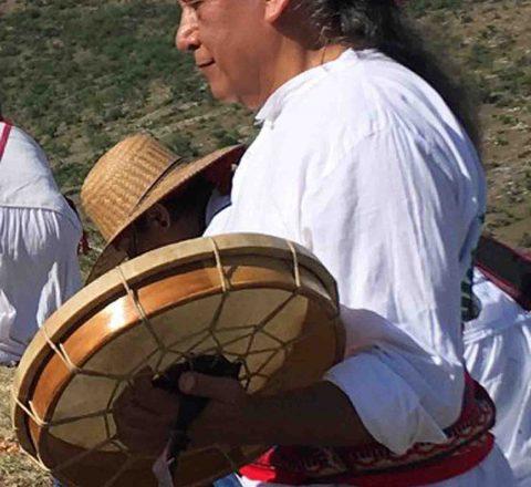 Armando, Chaman mexicain, cérémonie tambours, Oasis