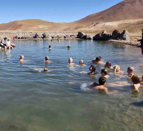 Bains thermaux, Désert d'Atacama, Chili, Oasis