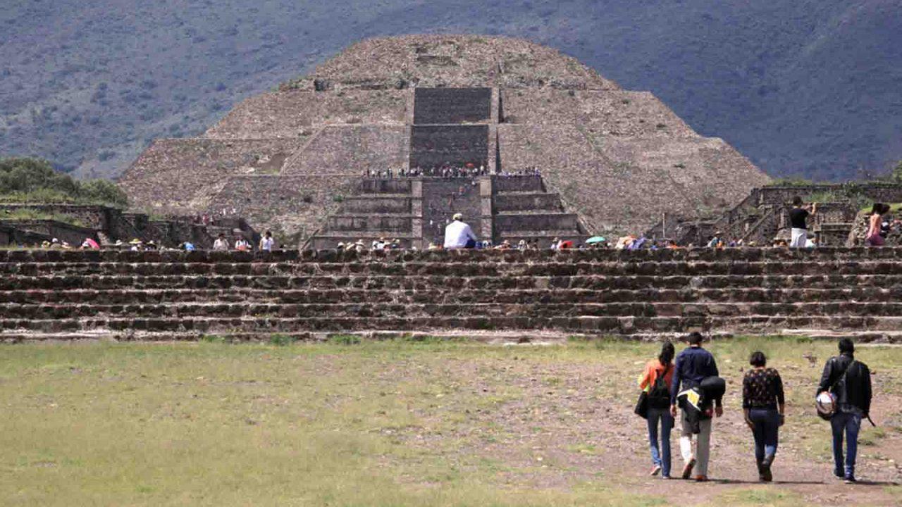 Pyramide du Soleil, Teotihuacan, Mexique, Oasis