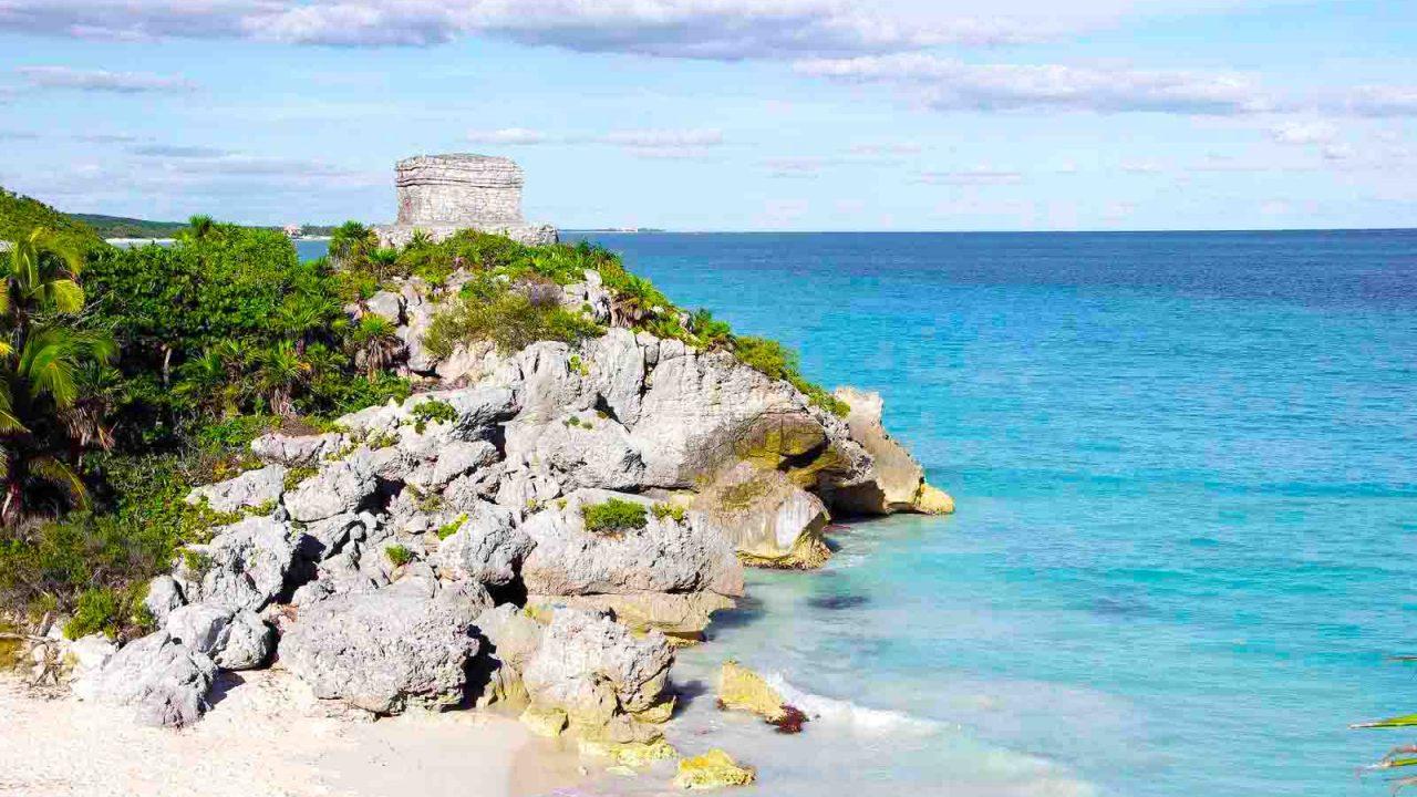 Site maya de Tulum, Yucatan, Mexique, Oasis