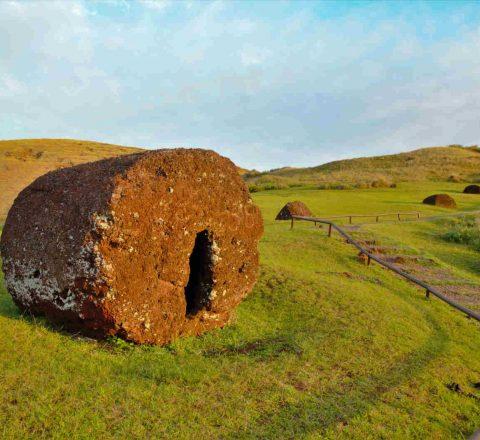 Ressource moai à Puna Pau Ile de Pâques Oasis