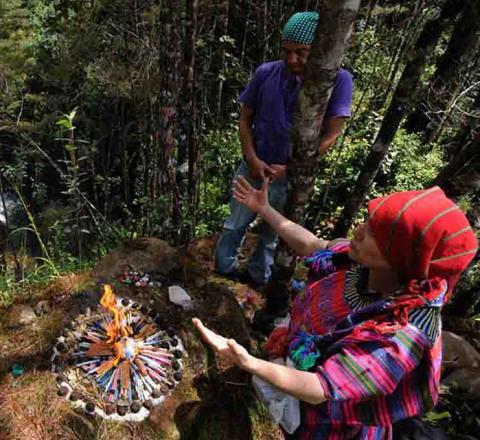 Cérémonie avec Doña Lidia, Guatemala, Oasis