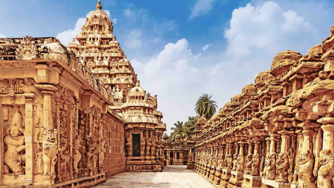 Temple de Kailasanatha à Kanchipuram, Inde, Oasis