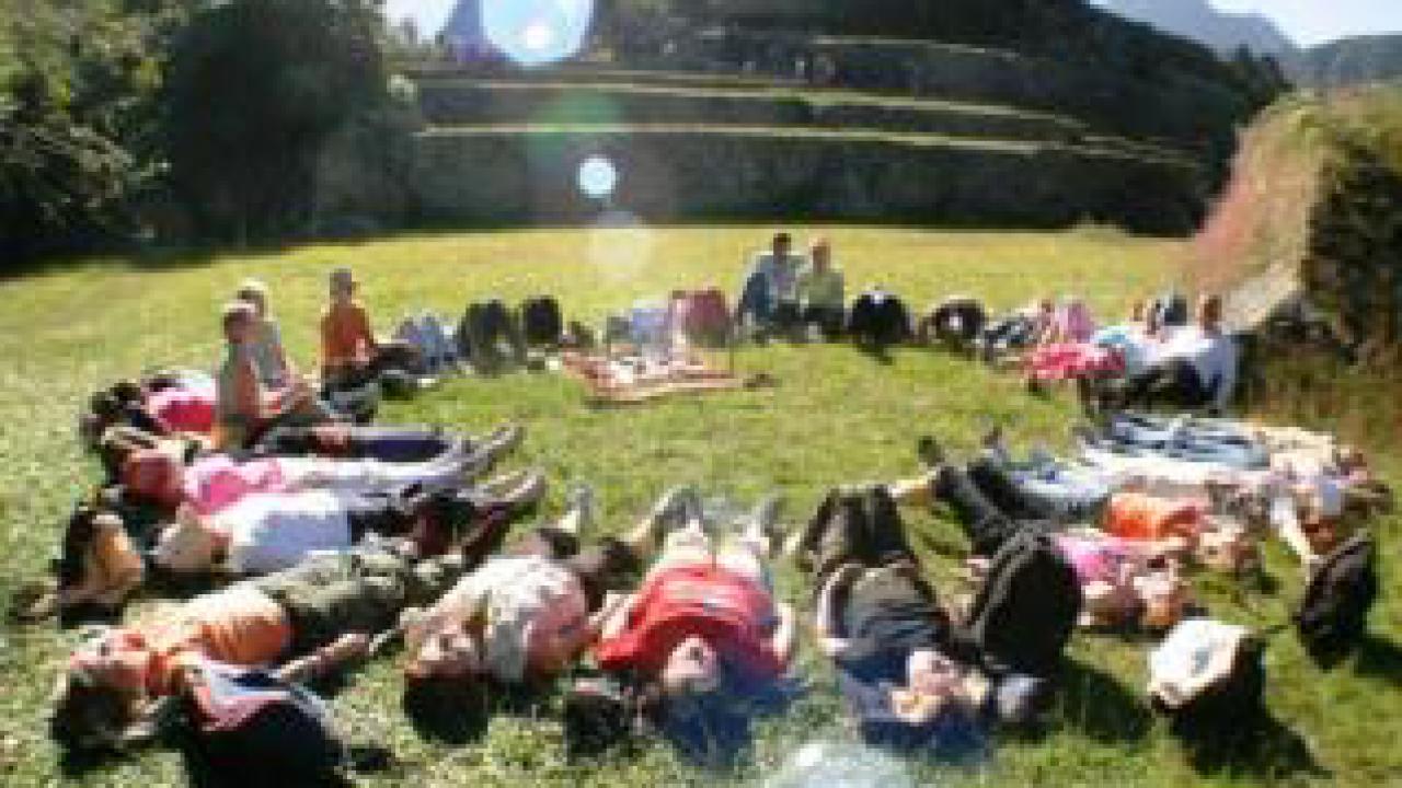 Cercle de méditation, Mexique, Oasis