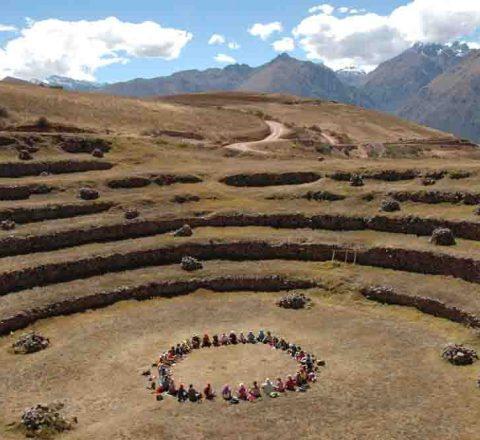 Moray, cercle de méditation, voyage en conscience, Pérou, Oasis