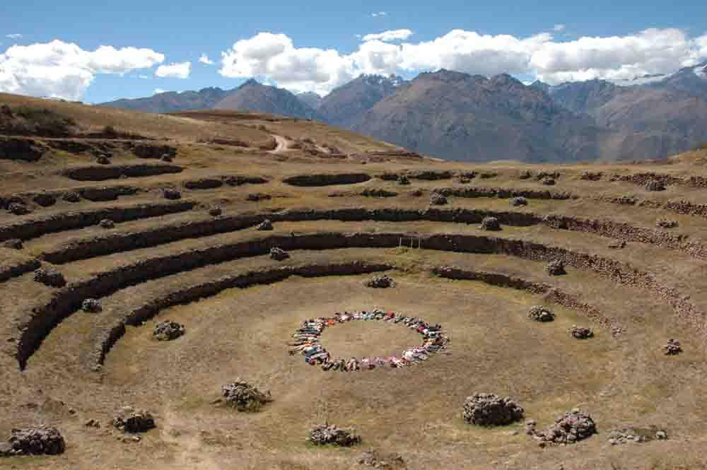 Cercle de méditation à Moray, Pérou, Oasis
