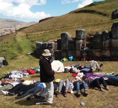 Cérémonie tambour, Pérou, Oasis