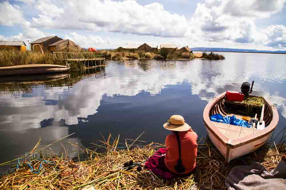 Ile Uros sur le lac Titicaca, Pérou, Oasis