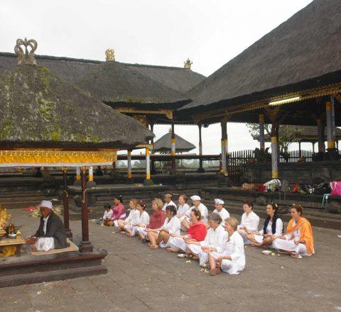 Temps d'enseignement dans un temple balinais Oasis
