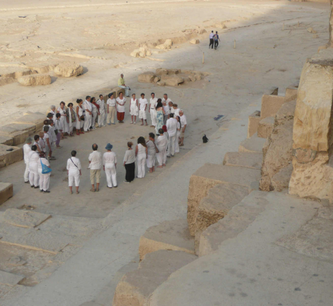 Méditation cercle Egypte Oasis