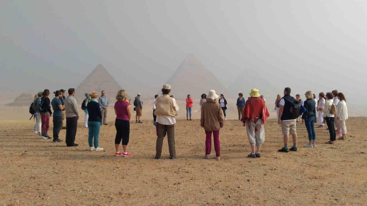 Méditation pyramides Gizeh Oasis