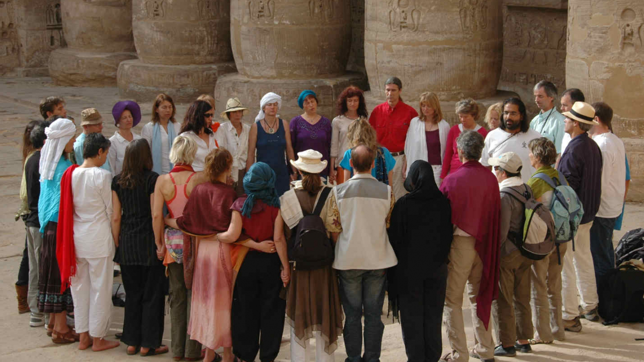 Recueillement groupe Egypte Oasis