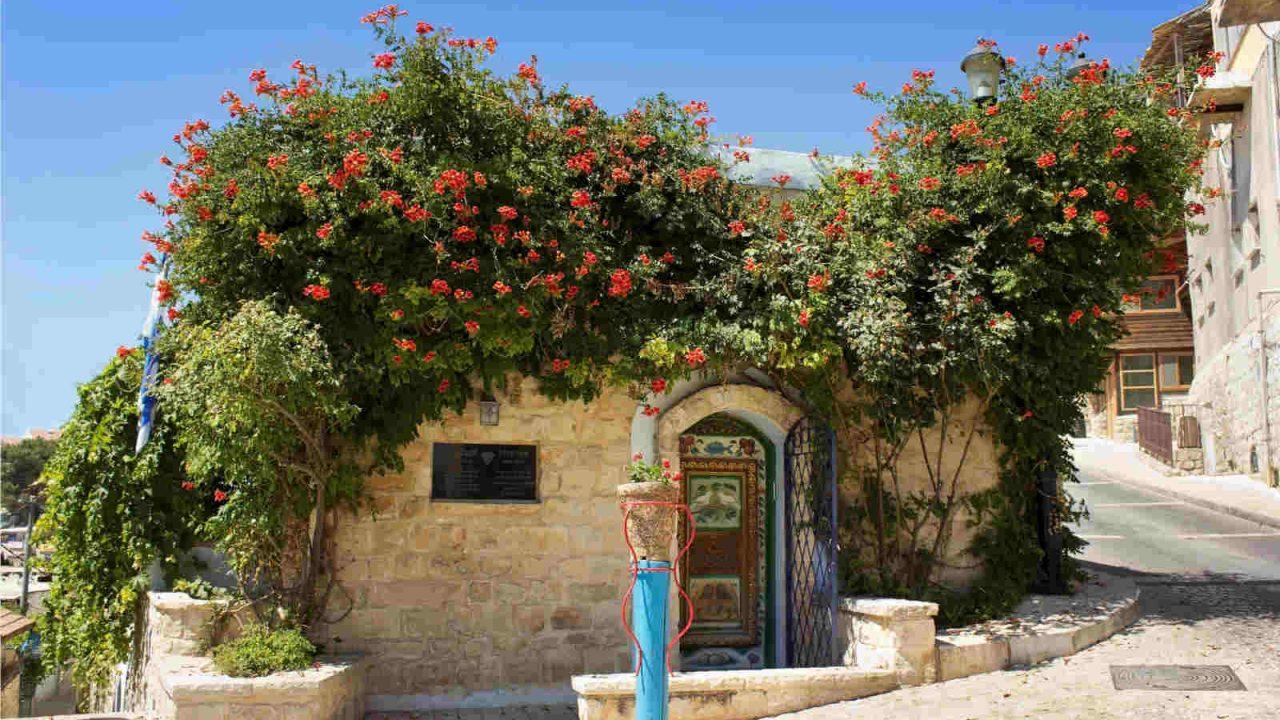 Israël maison fleurie à Safed Oasis