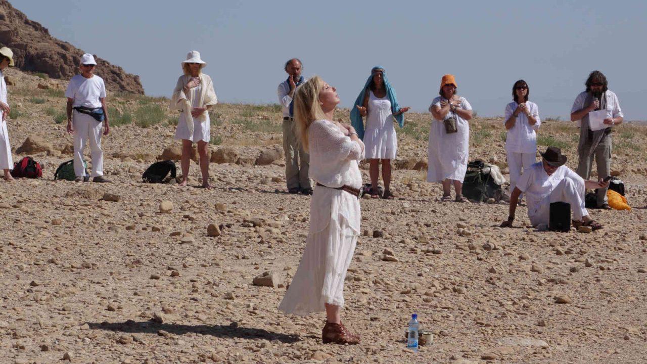 Israël rituel au bord de la mer morte