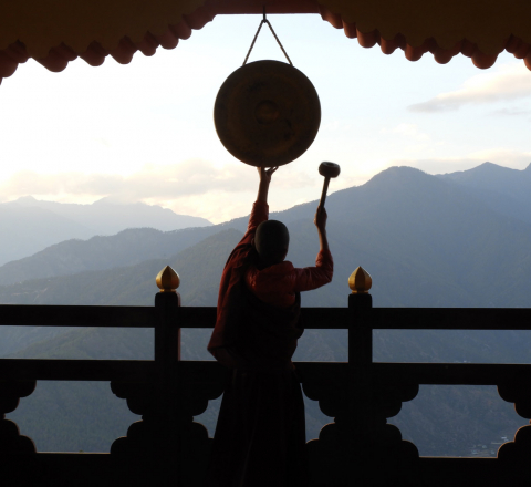 Moine bouddhiste Bhoutan Oasis