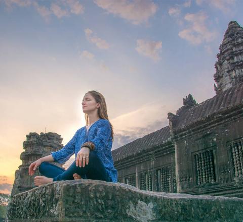Cambodge meditation temple Angkor