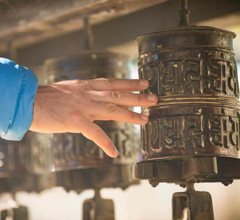 Moulin à prière, Inde Ladakh, Oasis