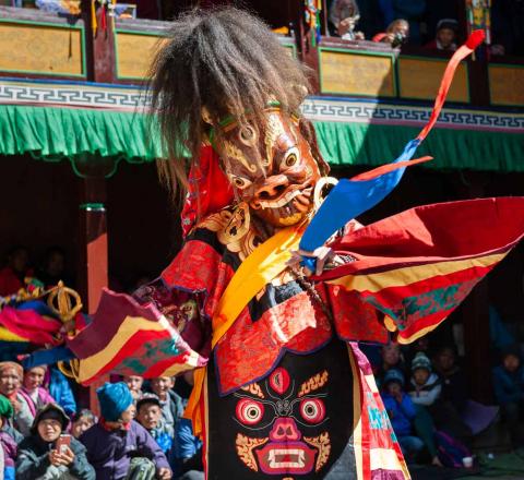 Danse masquée Népal Oasis