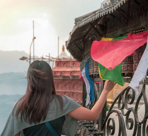 Moulin à prière Népal Oasis