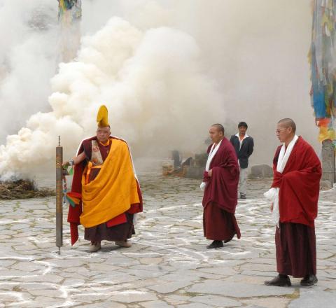 Rituel moines tibétains Oasis