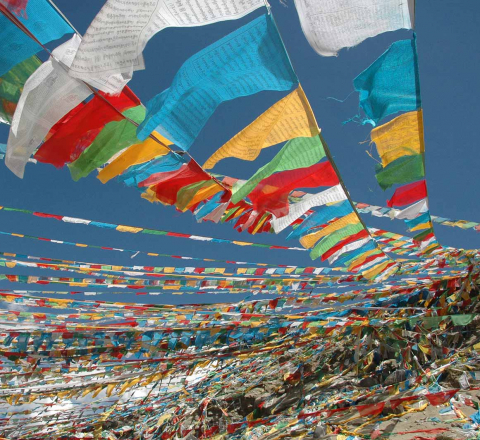 Drapeaux de prière Tibet Oasis