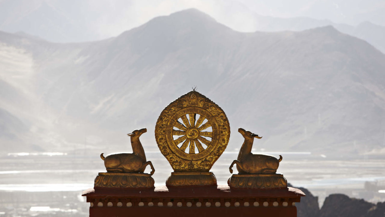 Roue dharma Tibet voyage initiatique Oasis